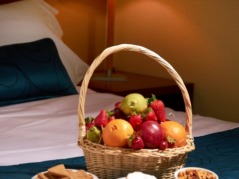 Fruit Basket on Bed