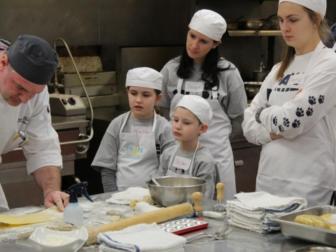 THON Family event at The Penn Stater Making Pasta