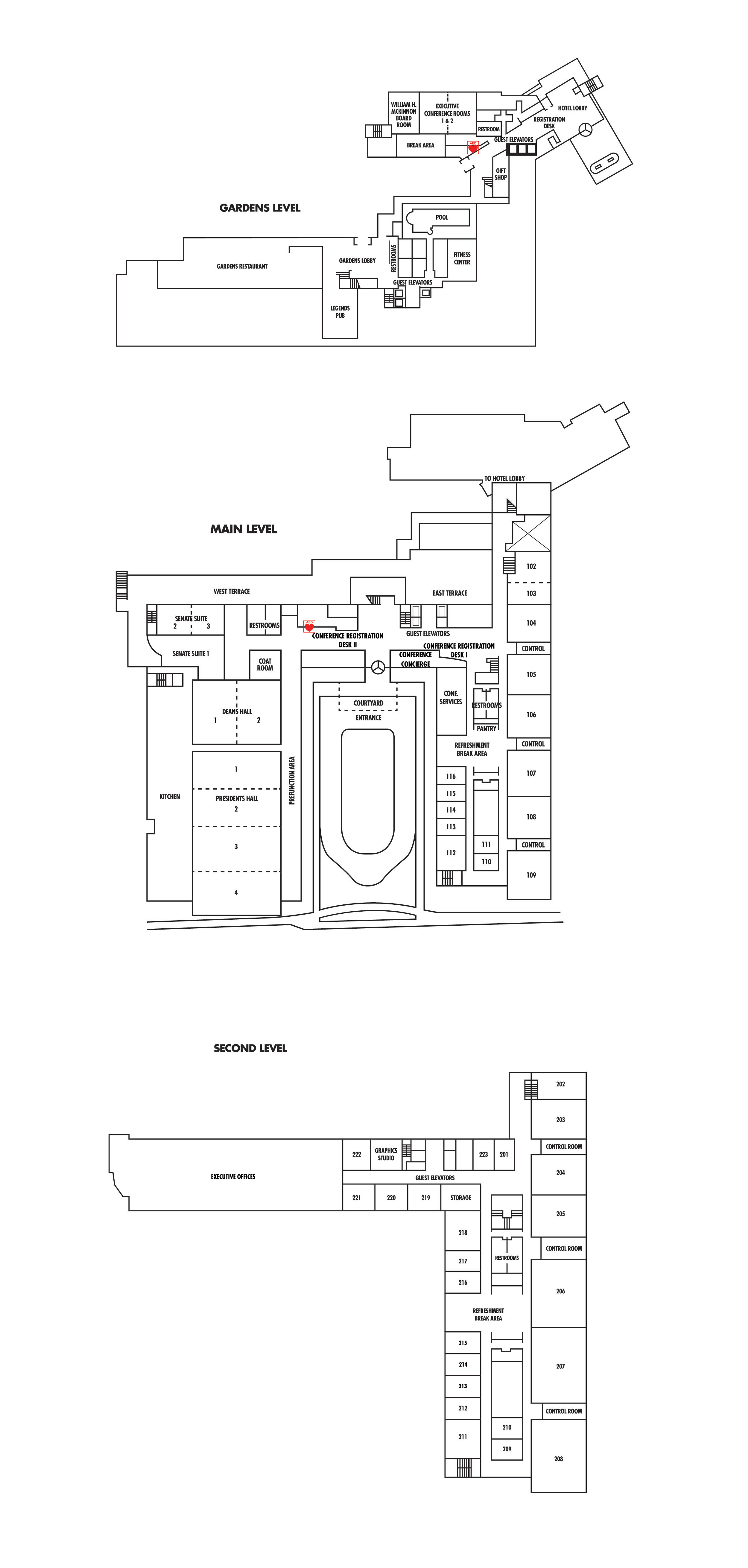 Floor plans meeting facilities at the penn stater for Event floor plan layout